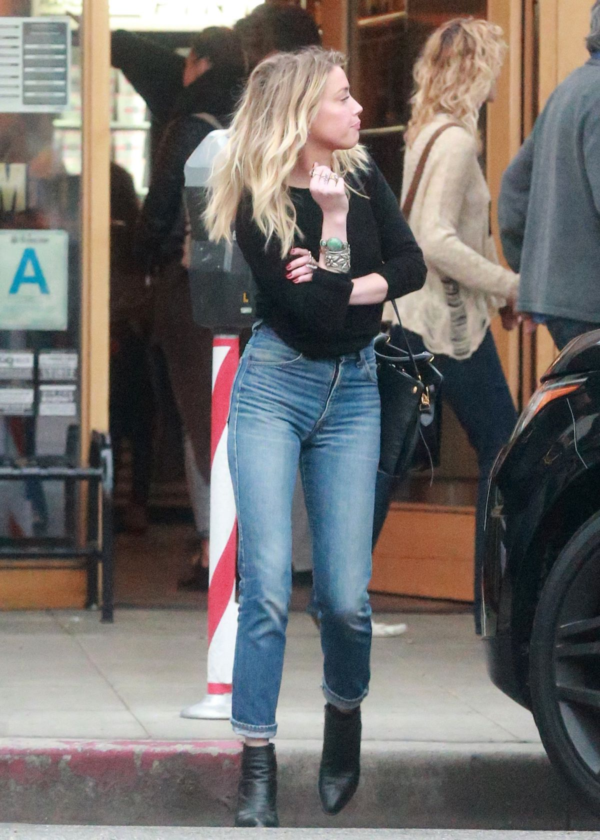 AMBER HEARD in Jeans Out in Los Angeles 12/10/2016