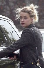 AMBER HEARD Out and About in West Hollywood 12/13/2016
