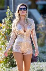 ANA BRAGA Out Ice Skating in Los Angeles 12/07/2016