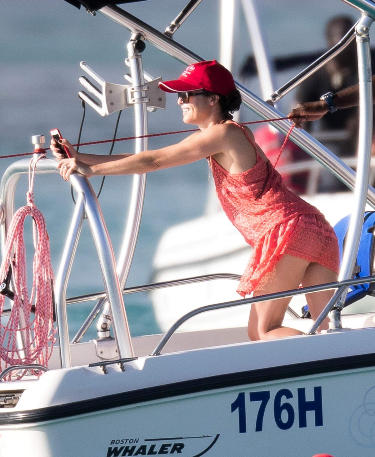 ANDREA CORR at a Boat in Barbados 12/26/2016