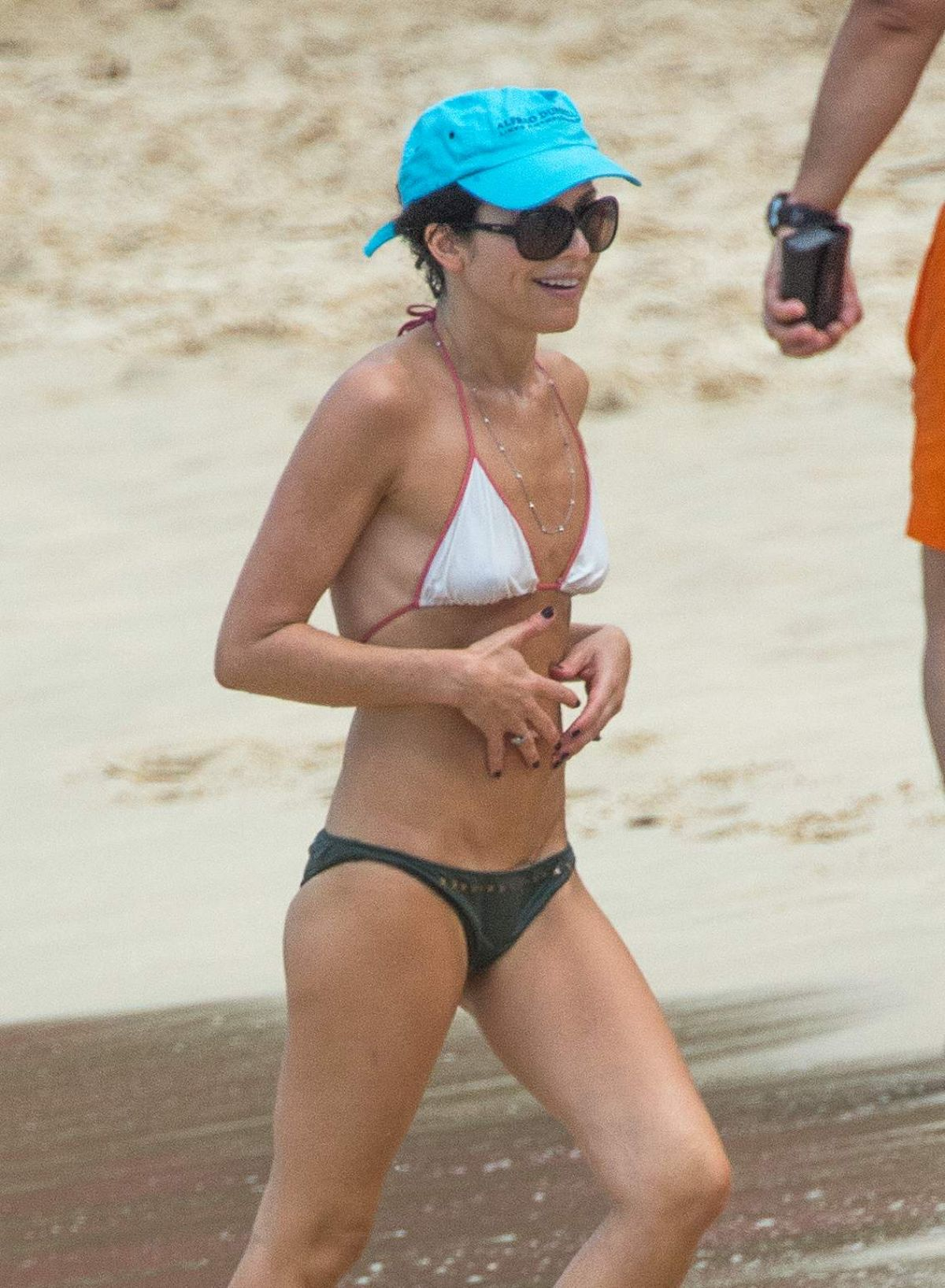 ANDREA CORR in Bikini on the Beach in Barbados 12/25/2016