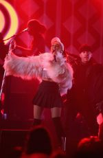 ARIANA GRANDE Performs at 103.5 Kiss FM's Jingle Ball 2016 in Rosemont 12/13/2016