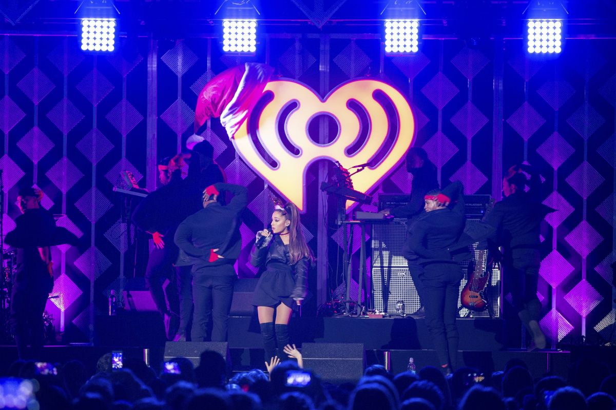 ARIANA GRANDE Performs at Iheart Radio Jingle Ball 2016 at Phillips Arena in Atlanta 12/16/2016