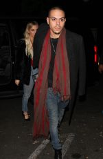 ASHLEE SIMPSON and Evan Ross Night Out in West Hollywood 12/14/2016