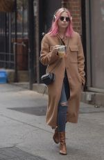 ASHLEY BENSON Out and About in New York 12/26/2016