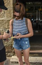ASHLEY GREENE in Denim Shorts at Sake Restaurant in Sydney 12/30/2016