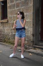 ASHLEY GREENE in Denim Shorts at Sake Restaurant in Sydney 12/30/2016