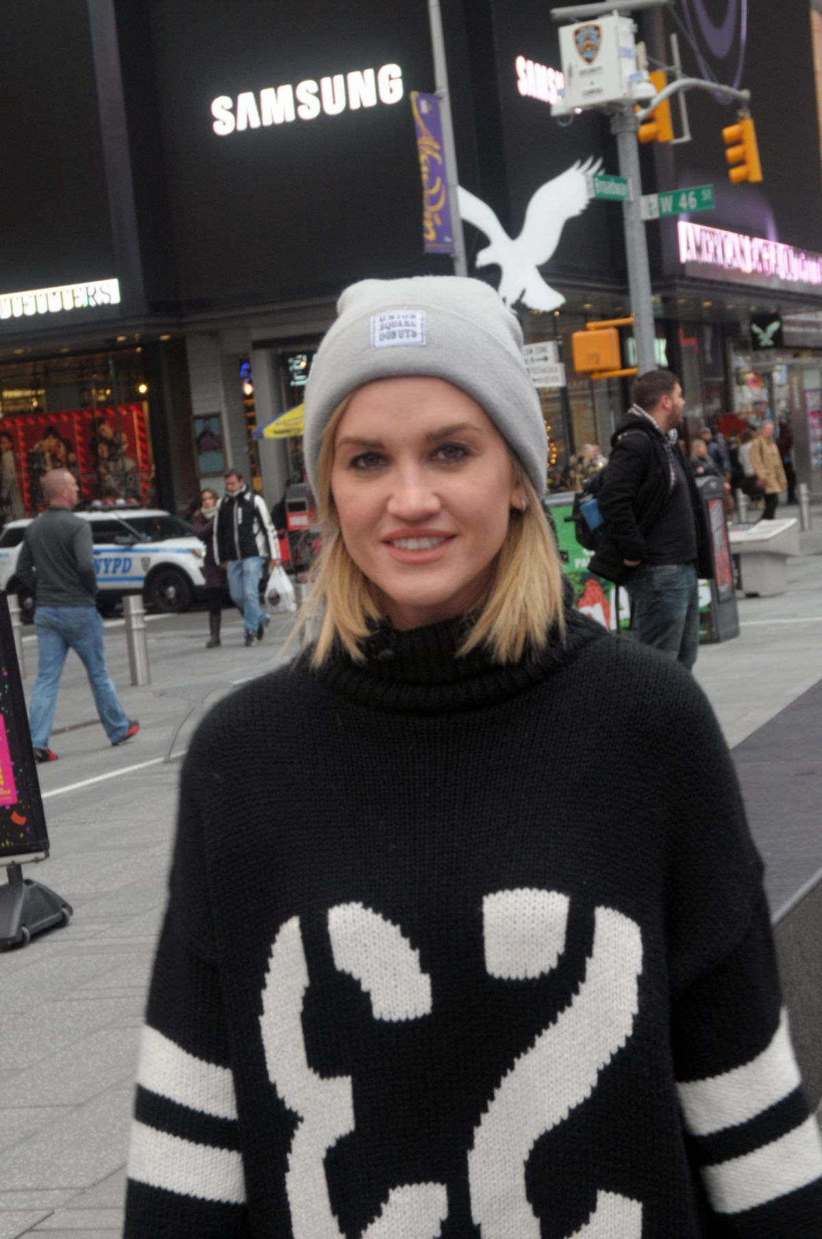 ASHLEY ROBERTS at Times Square in New York 12/08/2016