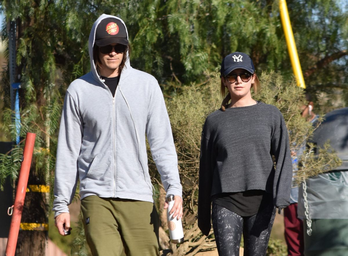 ASHLEY TISDALE and Her Husband Hiking Out in Los Angeles 12/17/2016
