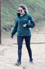ASHLEY TISDALE Hiking at Runyon Canyon in Los Angeles 12/15/2016
