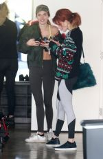 BELLA and DANI THORNE Leaves a Gym in Los Angeles 12/08/2016