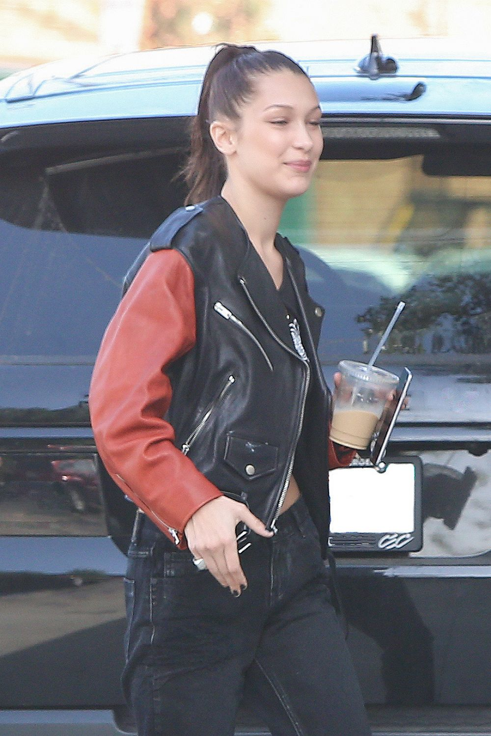 BELLA HADID Arrives at Chrome Hearts Offices in Los Angeles 12/14/2016