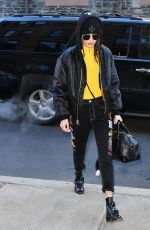 BELLA HADID Leaves Her Apartment in New York 12/16/2016