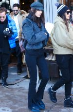 BELLA HADID Out and About in Aspen 12/24/2016