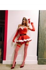 BELLA THORNE in Santa Outfit, Instagram Pictures 12/12/2016