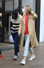 BRIT MARLING Shopping at The Grove in Los Angeles 12/23/2016
