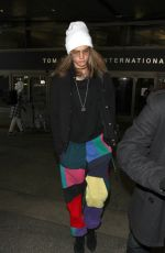 CARA DELEVINGNE at LAX Airport in Los Angeles 12/12/2016