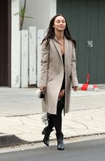 CARA SANTANA Make-up Free on the Set of a Photoshoot in West Hollywood 12/21/2016