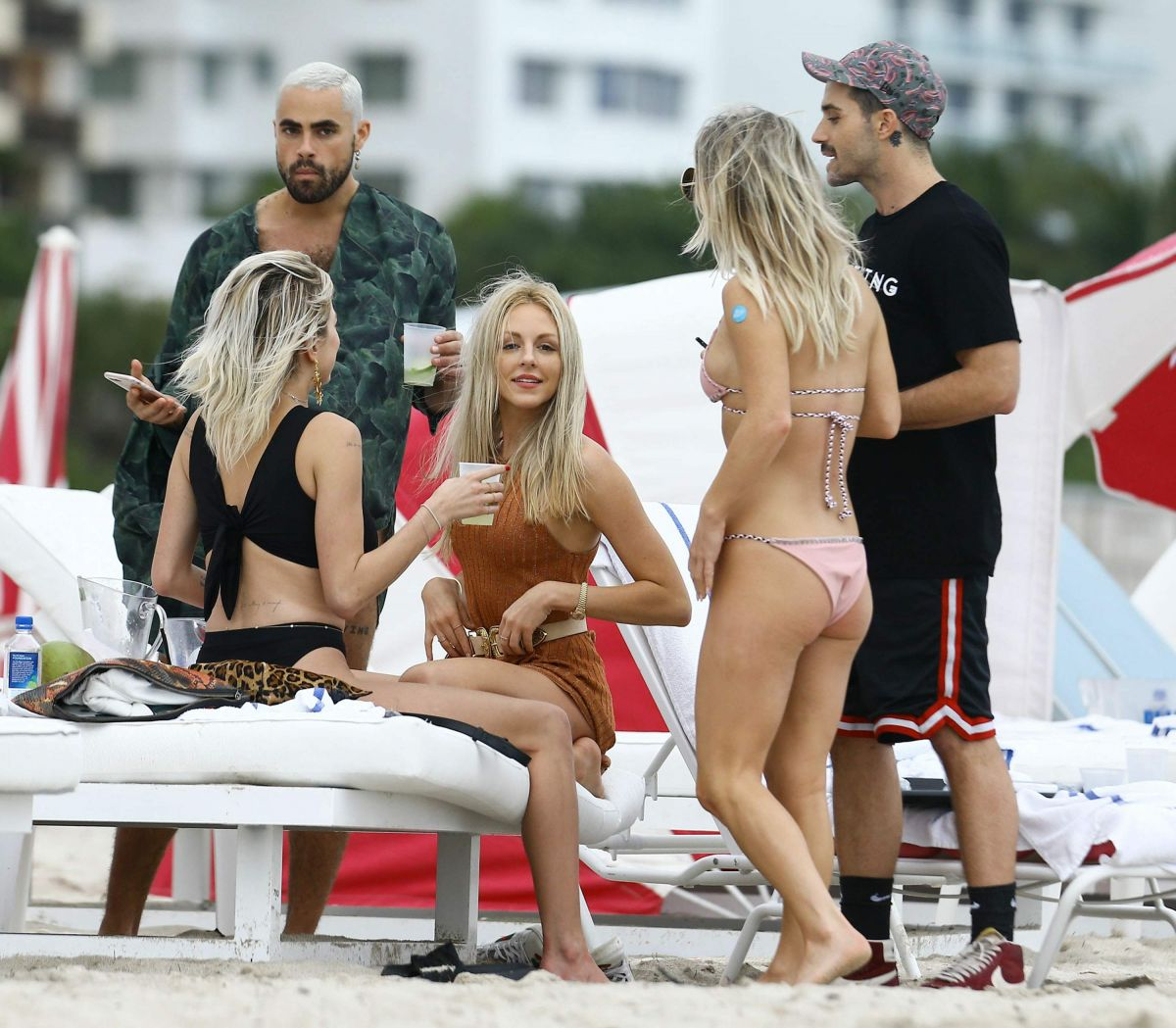 CAROLINE VREELAND, SHEA MARIE and JESS MAIR in Bikinis on the Beach in Miami 12/02/2016