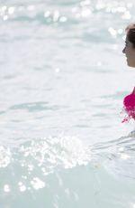 CATHY HUMMELS in Bikini on the Beach in Miami 12/28/2016