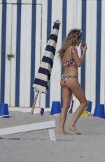 CHELSEA LEYLAND in Bikini at a Beach in Miami 11/30/2016