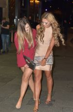 CHLOE FERRY and ABBIE HOLBORN Night Out in Newcastle 12/26/2016