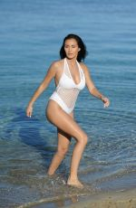 CHLOE GOODMAN in Swimsuit at a Beach in Mexico 12/28/2016