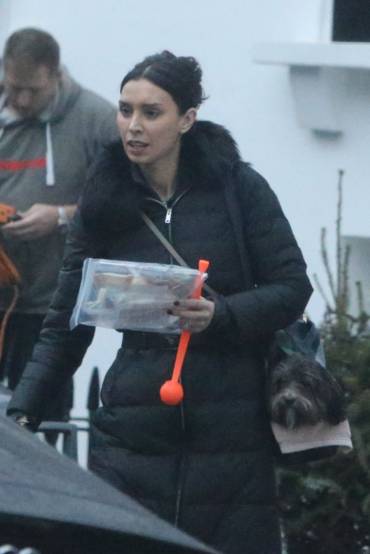CHRISTINE BLEAKLEY Leaves Her Home in London 12/21/2016