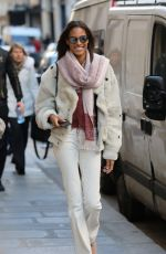CINDY BRUNA Out and About in Paris 11/29/2016