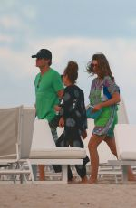 CINDY CRAWFORD at a Beach in Miami 12/25/2016