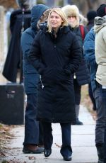 CLAIRE DANES on the Set of