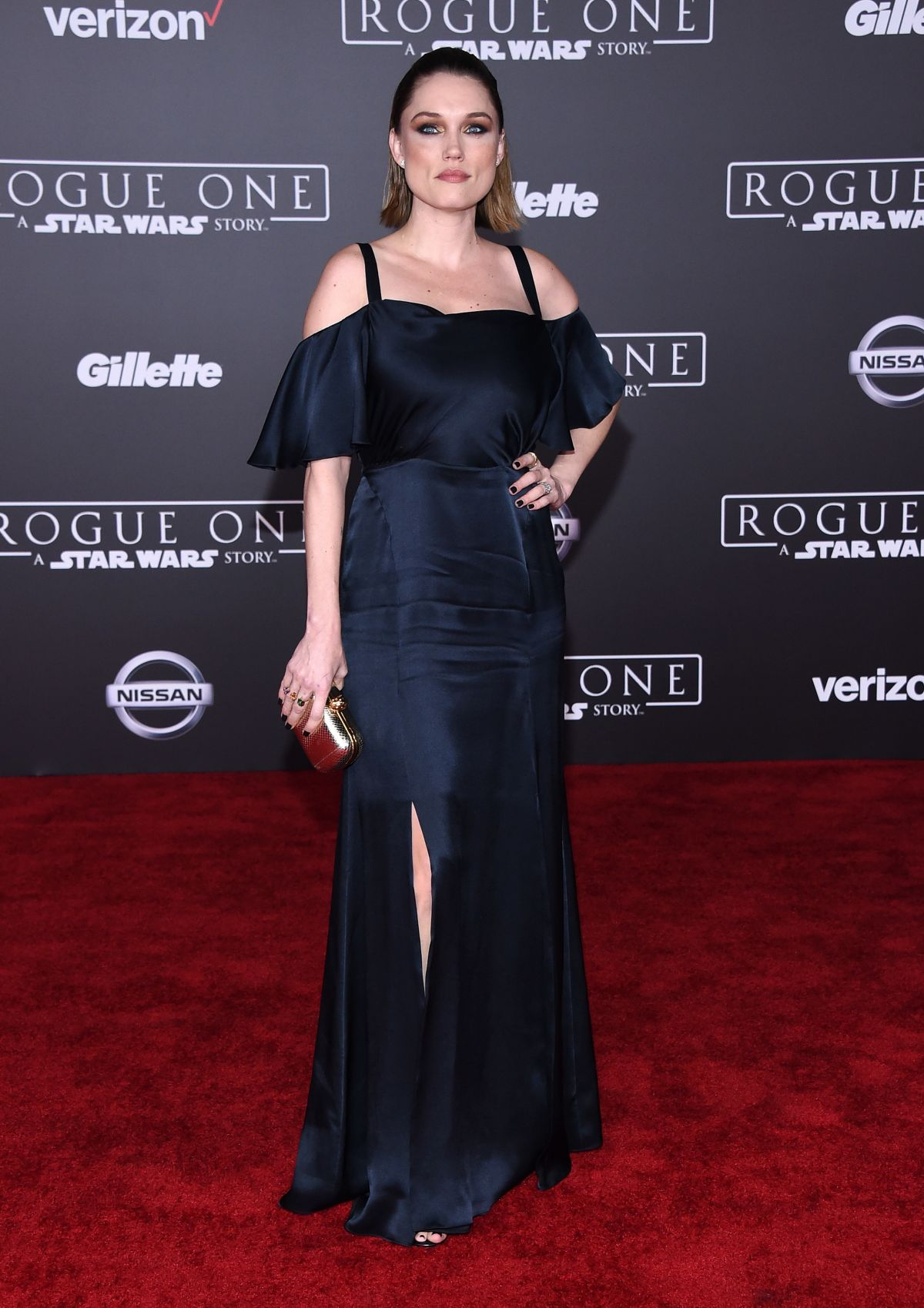 CLARE GRANT at Rogue One: A Star Wars Story Premiere in Hollywood 12/10/2016