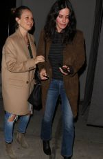 COURTENEY COX and JENNIFER MEYER at Catch LA in West Hollywood 12/06/2016