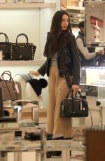 CRYSTAL REED Out Shopping in Los Angeles 12/19/2016