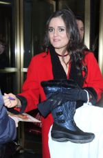 DANICA MCKELLAR Leaves Today Show in New York 12/22/2016