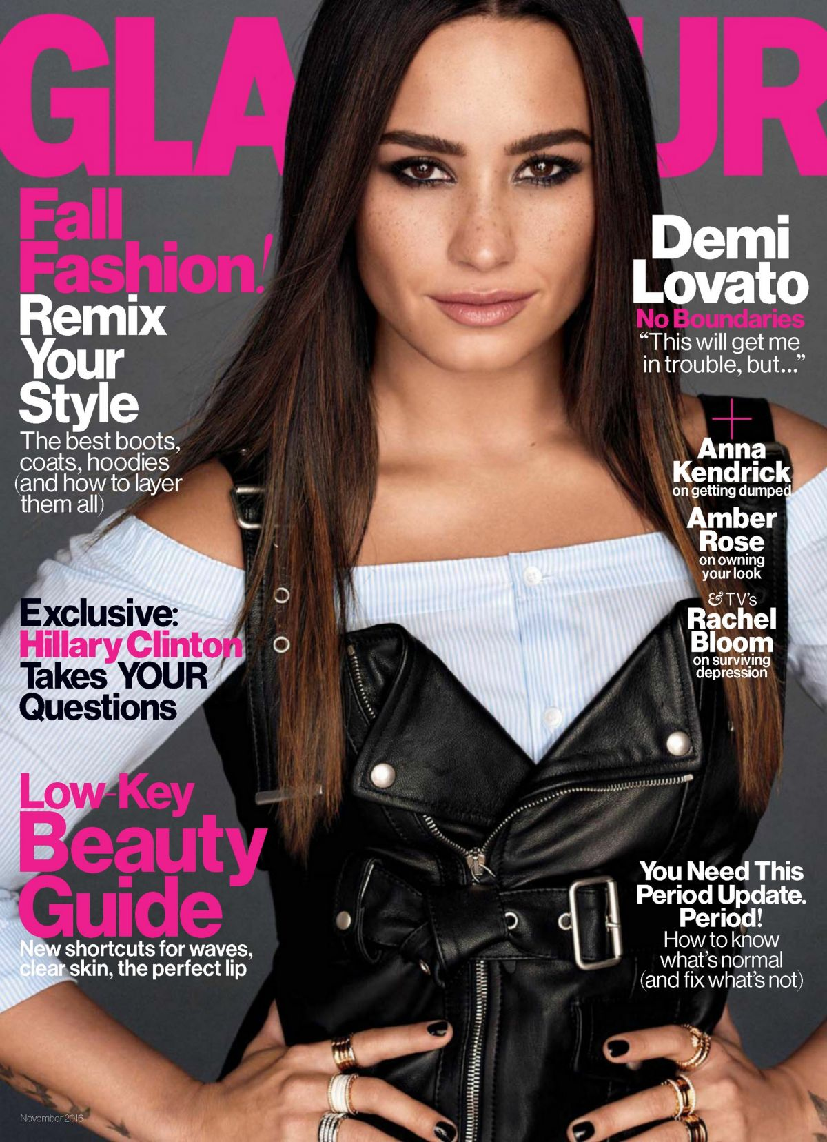 DEMI LOVATO in Glamour Magazine, November 2016 Issue