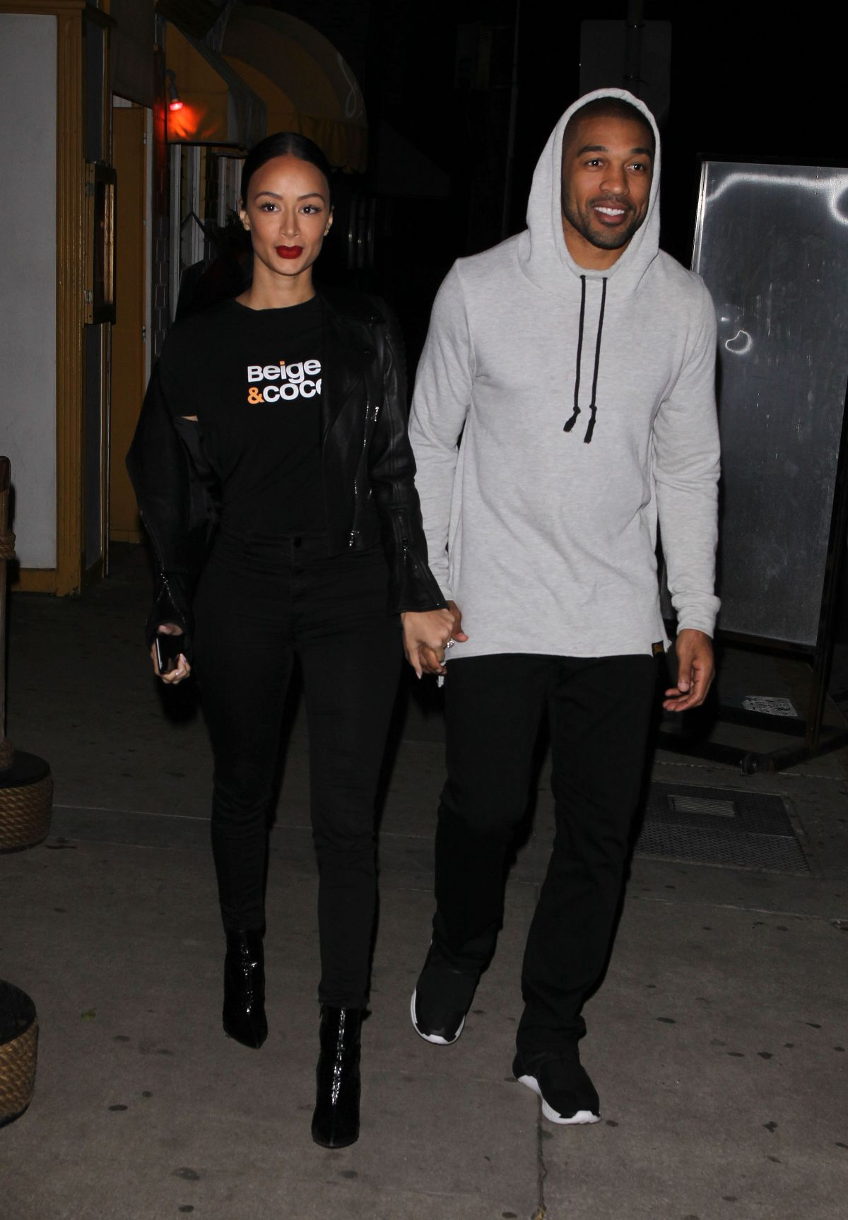 draya michele leaves dinner with her boyfriend in santa