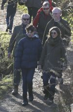 ELIZABETH HURLEY Out in Malvern Hills in Worcestershire 12/26/2016