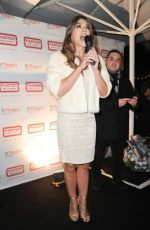 ELIZABETH HURLEY Switching on Christmas lLights at Shepherd Market in London 12/08/2016