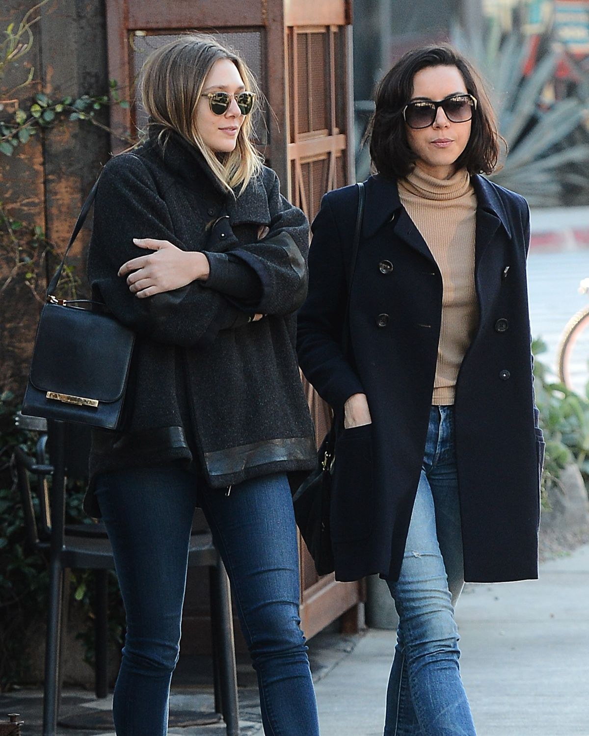 ELIZABETH OLSEN and AUBREY PLAZA Out for Lunch at Zinque in Los Angeles 11/30/2016