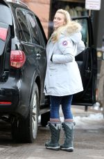 ELLE EVANS Out and About in Aspen 12/22/2016