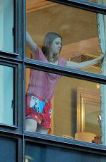ELLE FANNING in Pajama at Her Apartment in new York 12/13/2016