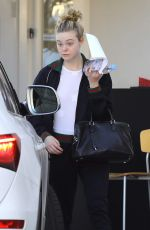 ELLE FANNING Out and About in Los Angeles 12/08/2016