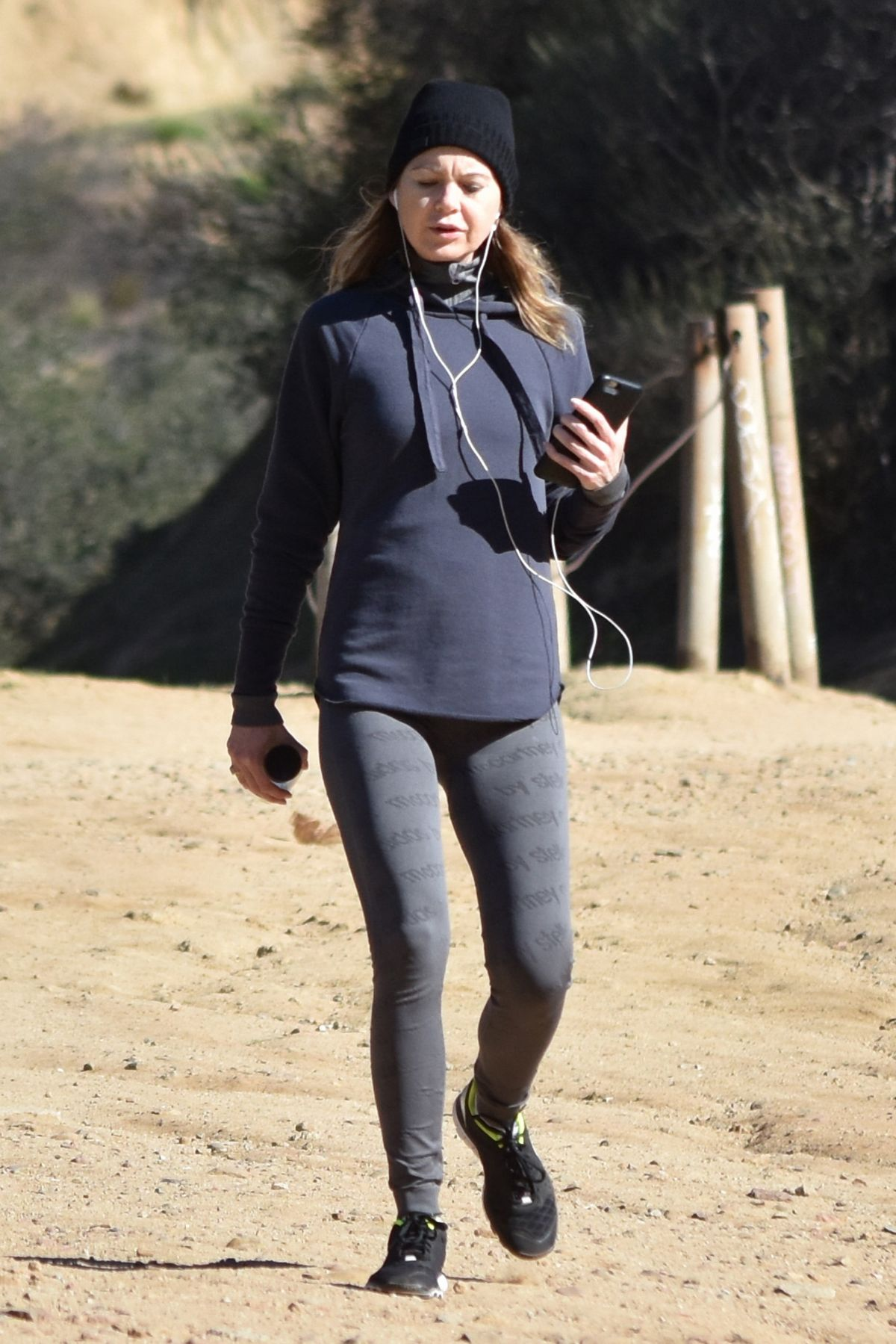 ELLEN POMPEO Out Hiking in Los Angeles 12/19/2016
