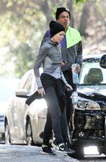 ELLEN POMPEO Out Jogging with Her Husband Chris Ivery in Los Feliz 12/18/2016