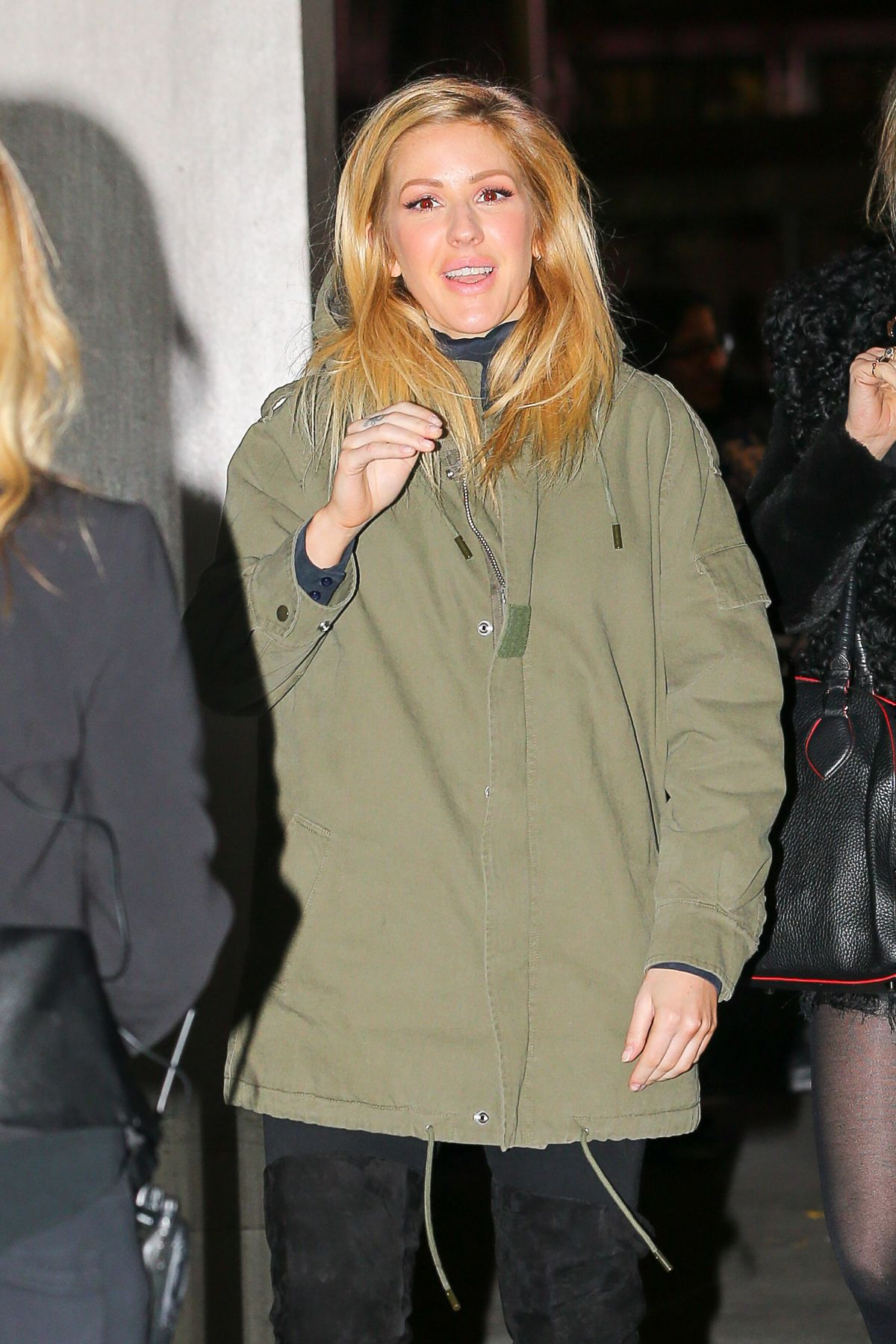 ELLIE GOULDING Arrives at Z100s Iheartradio Jingle Ball at