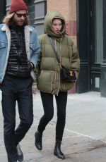 ELSA HOSK and Tom Daly Out in New York 12/28/2016
