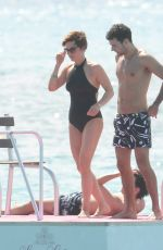 EMMA FORBES in Swimsuit at a Beach in Barbados 12/27/2016
