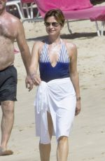 EMMA FORBES Out at a Beach in Barbados 12/30/2016