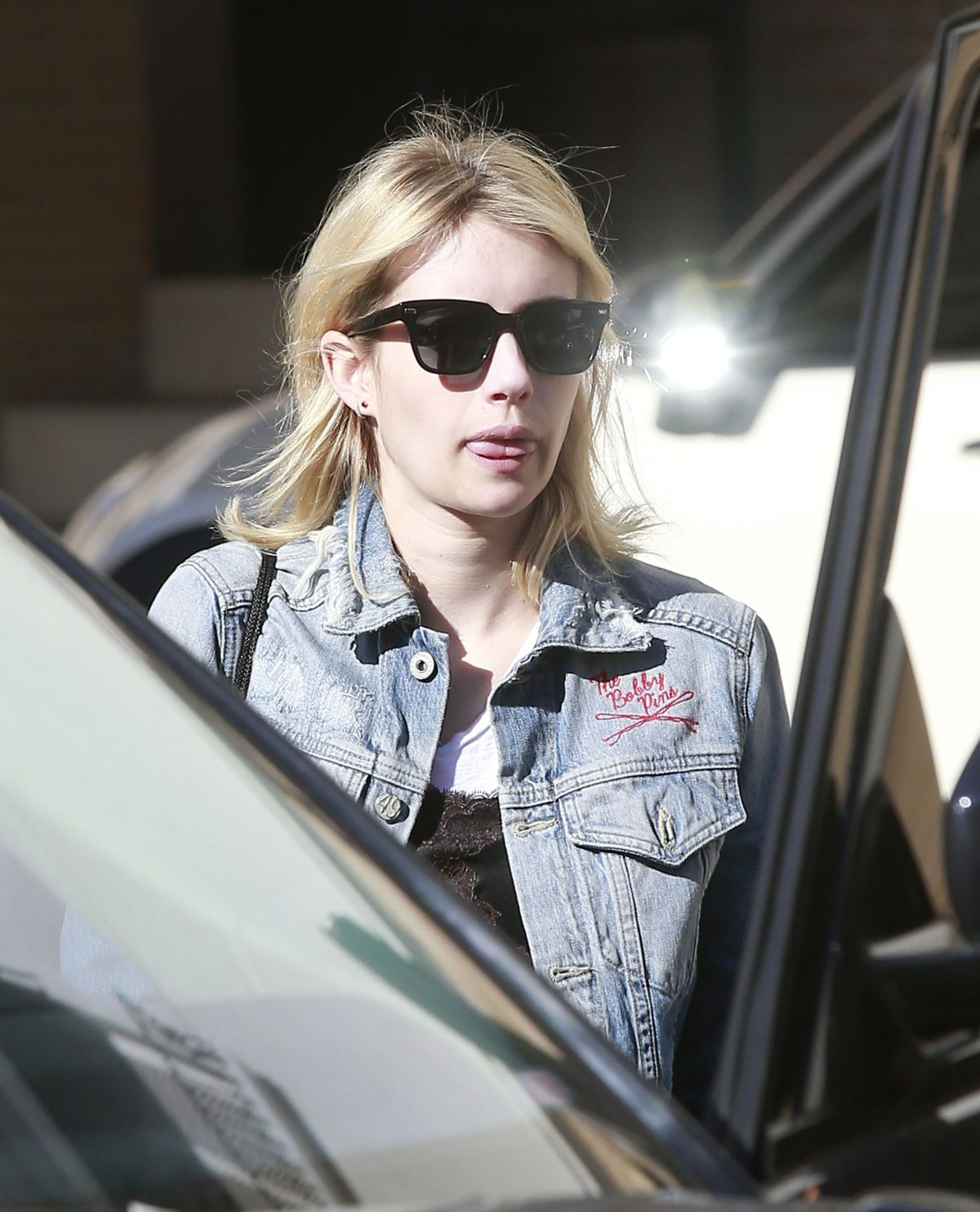 EMMA ROBERTS Leaves Barneys New York in Beverly Hills 12/20/2016